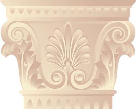 columna corintia: Capital arquitect�nica en griego - estilo corintias