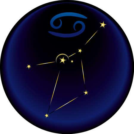 costellazioni: Pi� la costellazione del cancro segno zodiacale Cancro Vettoriali