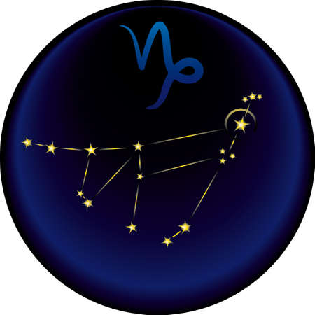 capricorn: Capricorn constellation plus the Capricorn astrological sign
