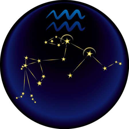 Aquarius constellation plus the Aquarius astrological sign