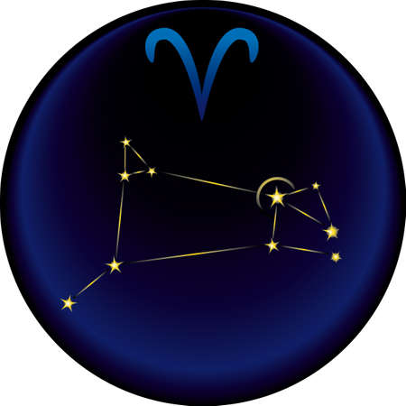 Aries constellation plus the Aries astrological sign