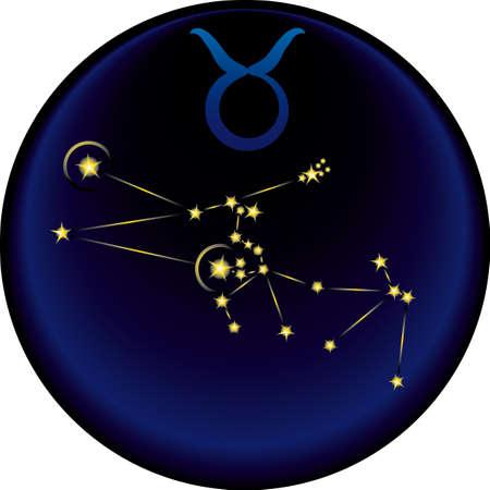 Taurus  constellation plus the Taurus  astrological sign