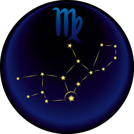 별자리: Virgo constellation plus the Virgo astrological sign