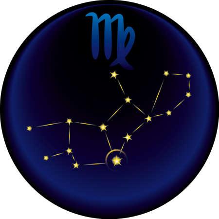 Virgo constellation plus the Virgo astrological sign