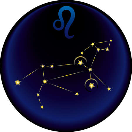 Leo constellation plus the Leo astrological sign