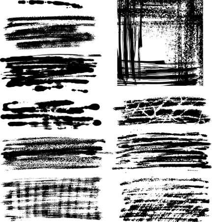 Whole set of graphics grunge elements ready to use Illustration