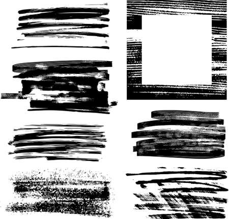 Whole set of graphics grunge elements ready to use Vector