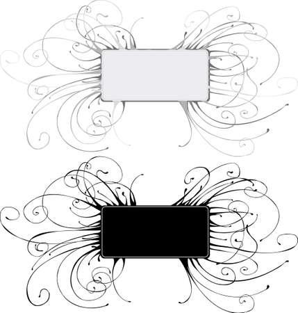 Detailed grunge banner with swirls Stock Vector - 3488734