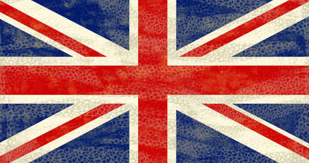 eroded: High detailed distressed grunge UK flag Stock Photo
