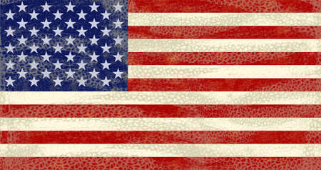 eroded: High detailed distressed grunge Usa flag Stock Photo