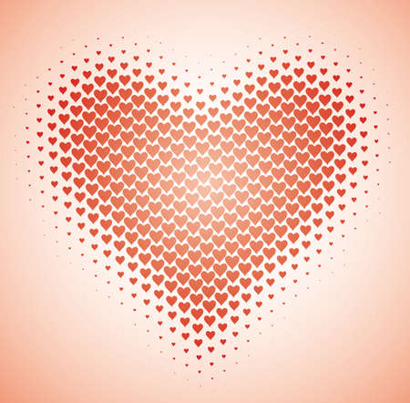 Heart background. Love and Valentine concept