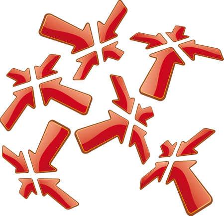 distort: Conjunto de gr�ficos perspectiva flechas.