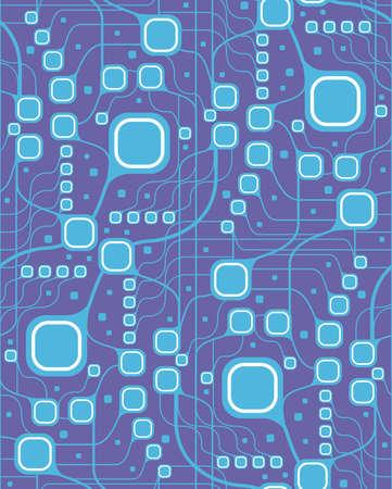 Seamless motherboard style pattern Illustration