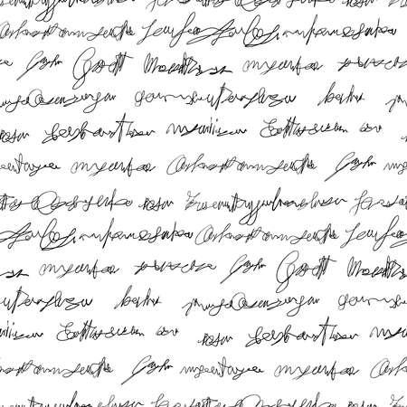 handwriting: Seamless fake writing module Illustration