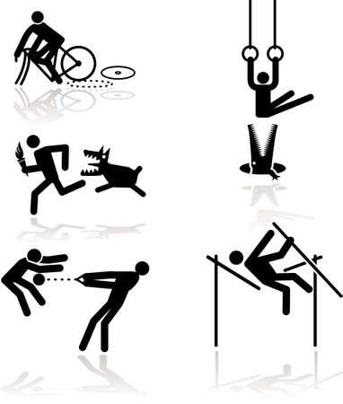 lancer marteau: Les Jeux Olympiques voir � travers un point de vue de l'humour. Set 1 Illustration