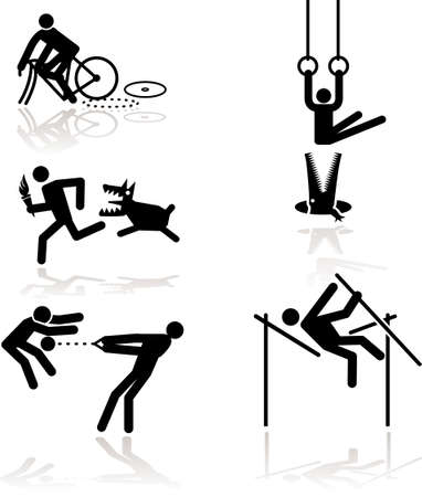 sports competition games see through an humor point of view. Set 1 Иллюстрация