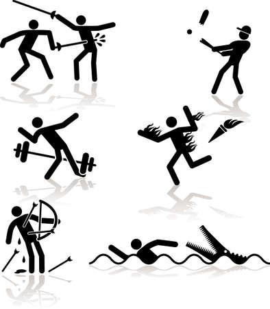 esgrima: Juegos Ol�mpicos ver a trav�s de un humor punto de vista. Conjunto 2. Vectores