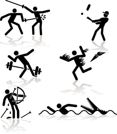 sports competition games see through an humor point of view. Set 2. Illustration