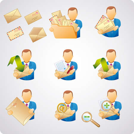 Set of e-mail users, good for webdesign, and computer icons Stock Vector - 3540267