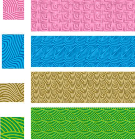 Asian traditional, seamless patterns - set 01