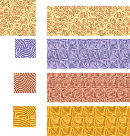 02: Asian traditional, seamless patterns - set 02