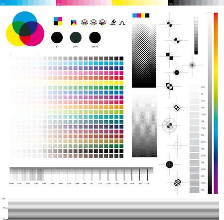 Komplett-Set von CMYK-Bildzeichens Versorgungsunternehmen; gut für den Druck-Tests.