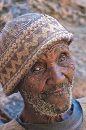 african village: Wise old man of an african village in Mali