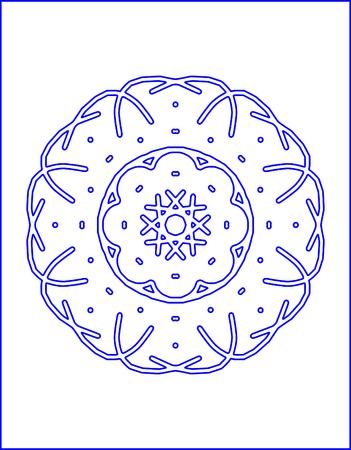 spirograph: Abstract spirograph vector illustration