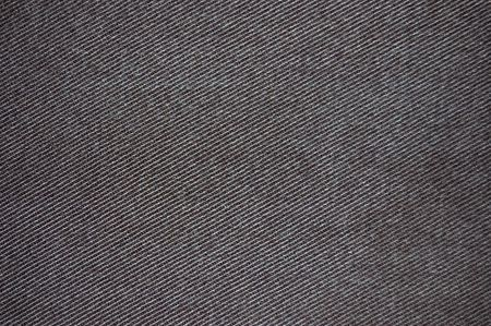 Grungy black cotton denim fabric texture
