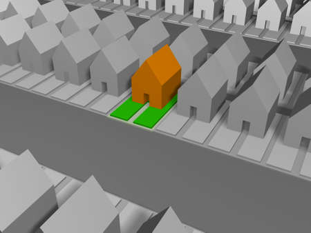 allocated: Real settlement. A Plenty of houses among which is allocated your fine house