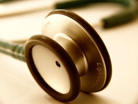 Health care - close up stethoscope
