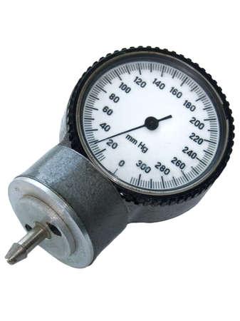 Old sphygmo manometer isolated on the white background Stock Photo - 4526909