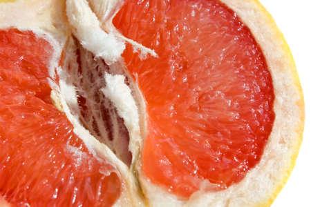 Fresh red grapefruit - background photo