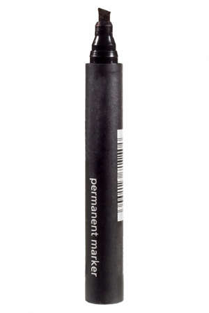 Black felt tip marker isolated on a white background Stok Fotoğraf