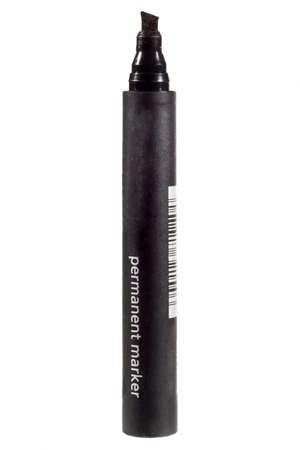 Black felt tip marker isolated on a white background Standard-Bild