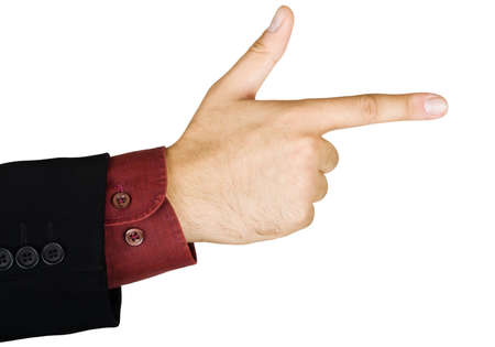 Pointing hand, isolated on a white background Stock Photo - 5959614
