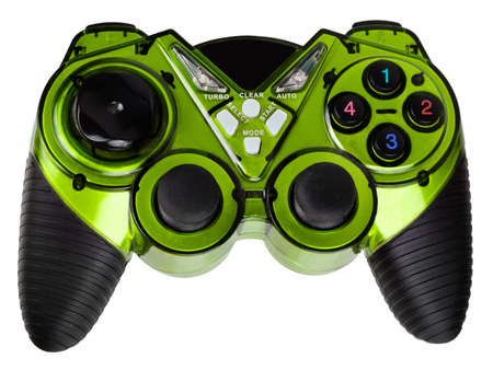games hand: Video game controller, isolated on white background