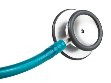Gezondheidszorg - stethoscoop geïsoleerd op witte achtergrond