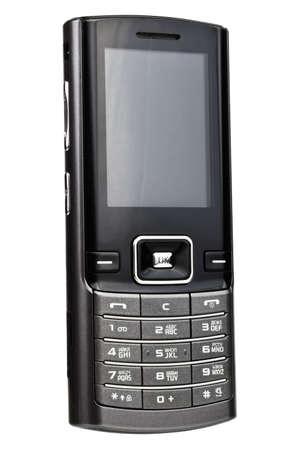 Mobile phone isolated on white background photo