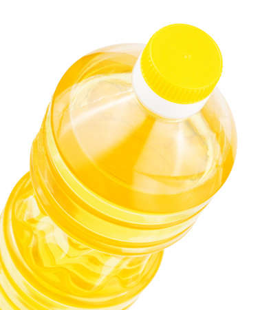 Bottle of sunflower oil isolated on a white background Stock Photo - 7116098