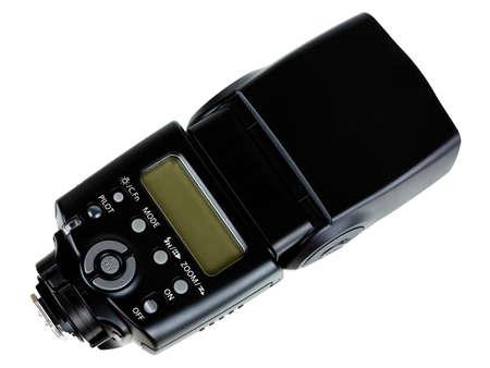 camera flashgun isolated on the white background photo