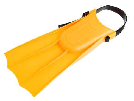 flipper: Nageoire jaune isol� sur fond blanc Banque d'images