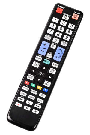 TV remote control isolated on white background photo