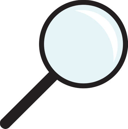 Magnifying glass isolated on white background  Search Icon  Vector illustration