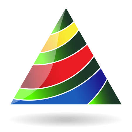 Abstract triangular icon - christmas tree  You can use in the creative design concepts  Vector illustration  Vector