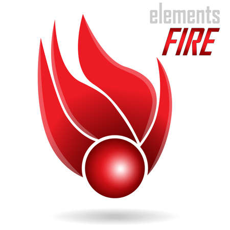 Abstract Icon - Fire element  You can use in the creative design concepts  Vector illustration  Vector