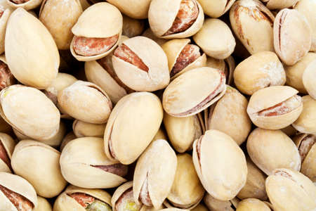 pista: Close up of the pistachios - background