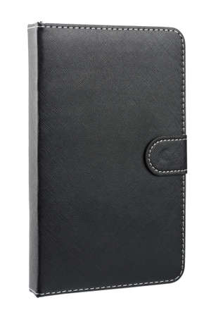 Black leather case for tablet photo