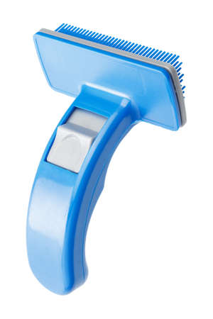 cat grooming: Comb for pet grooming isolated on a white background Stock Photo