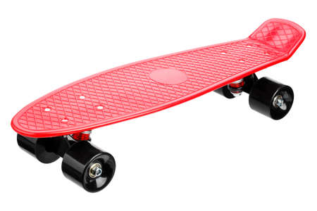 Red plastic skateboard